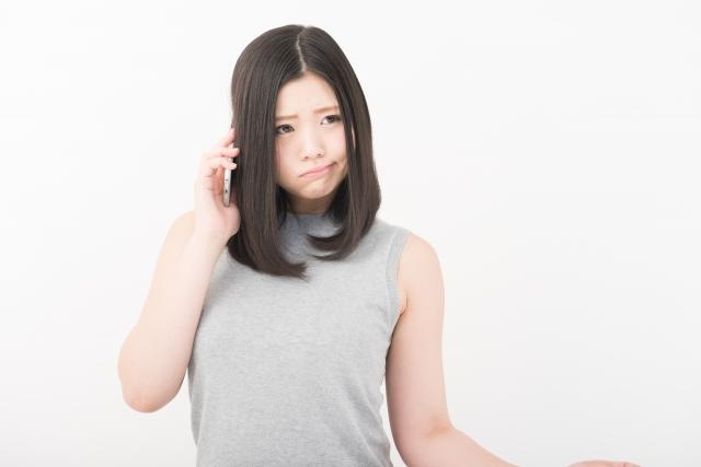 電話占いの鑑定中に電話が切れてしまった女性