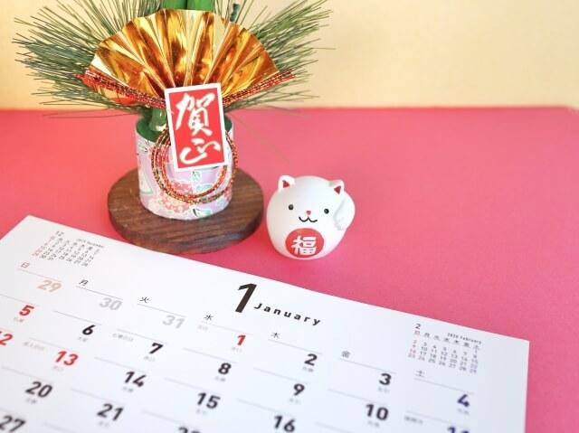 正月のカレンダー