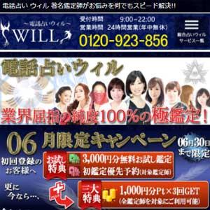 電話占いウィルの公式サイトイメージ
